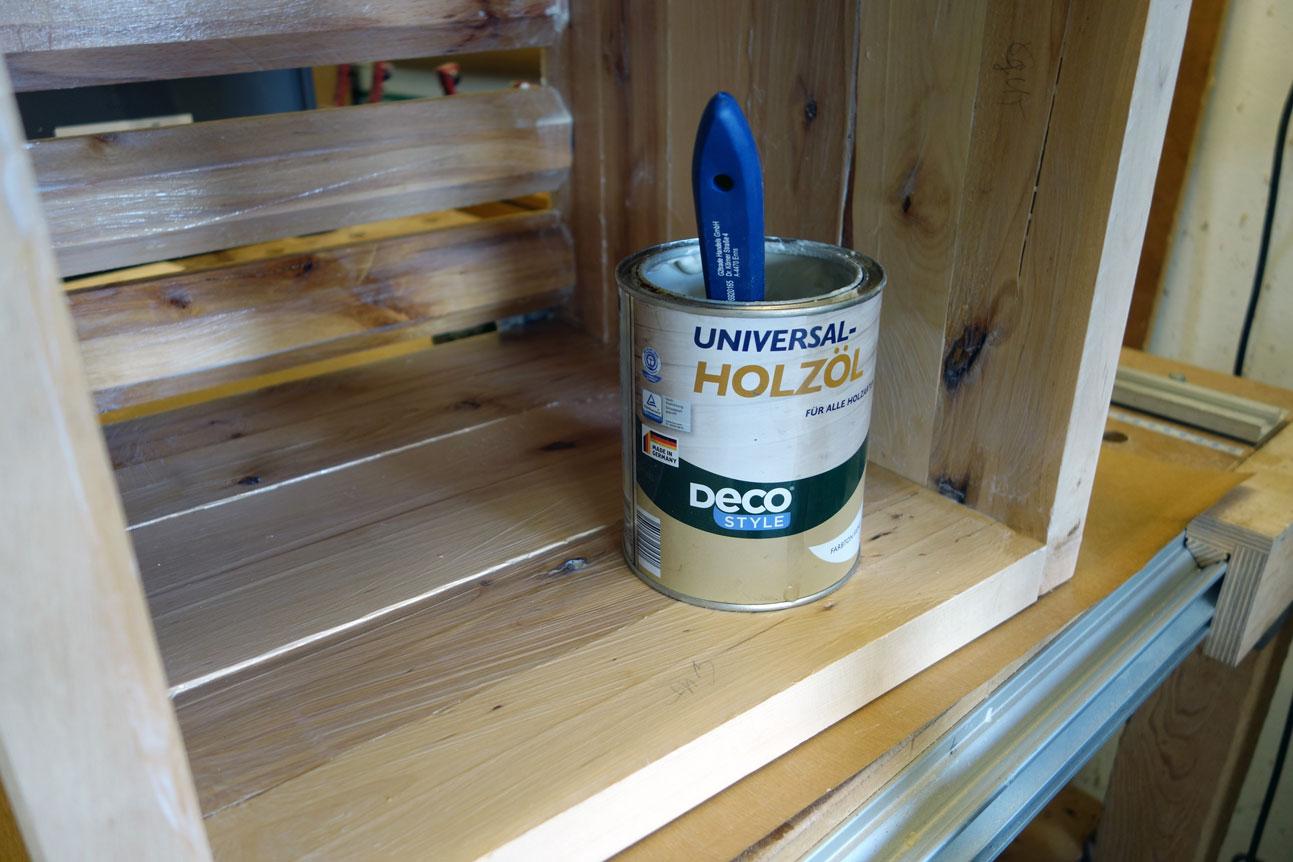 Innen kommt Holzöl zum Einsatz
