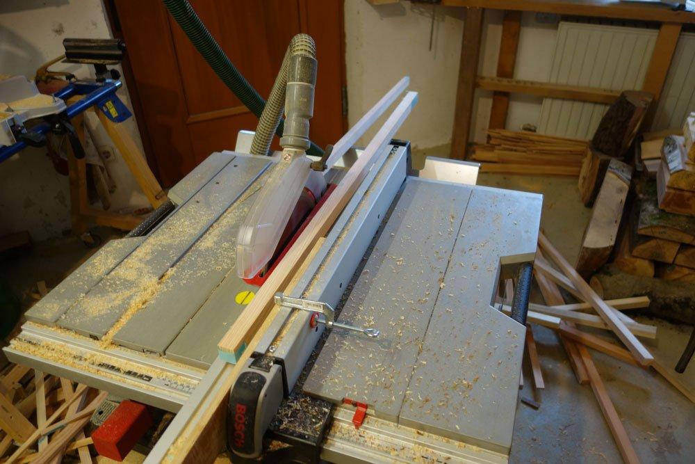 Dünne Holzleisten zuschneiden