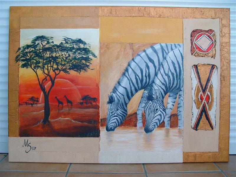 Afrika Zebra 80x100
