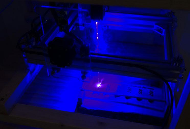 Mittels Laser wurde die Punktezahlen beschriftet