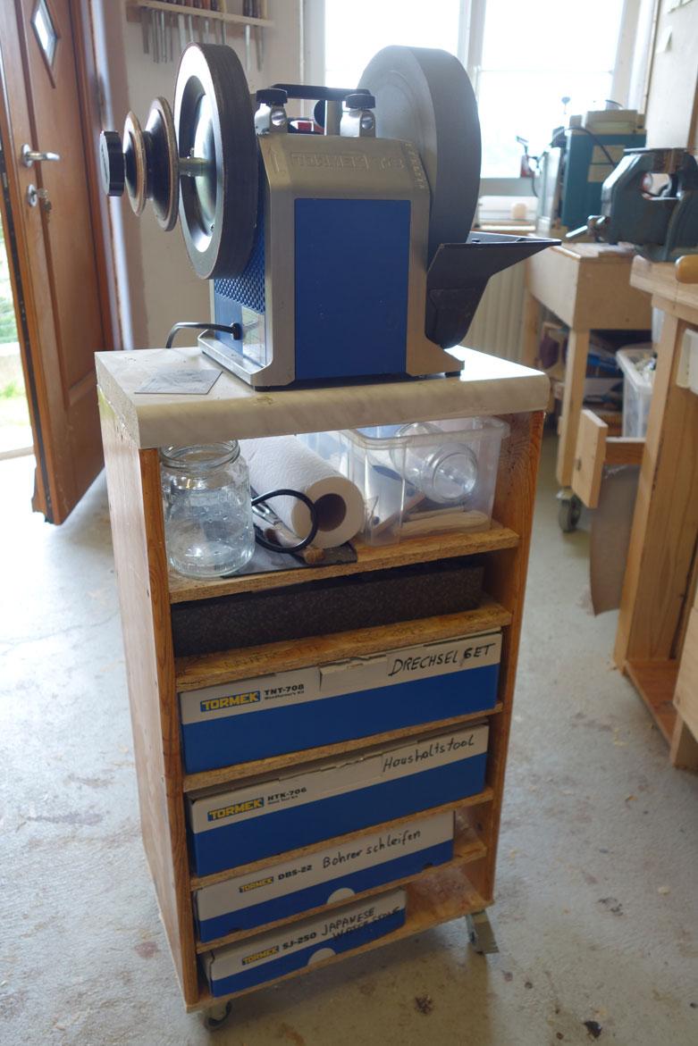 Tormek-Schleifstation mit Zuberhör
