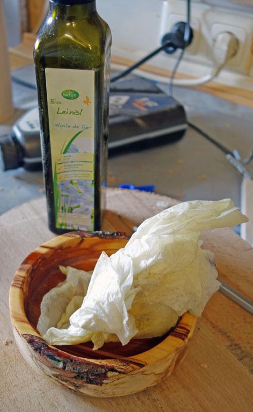 Einölen mit Leinöl