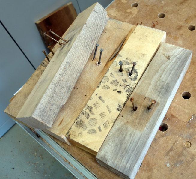 Ausgangsmaterial: Rotbuche von gebrauchten Hartholzpaletten