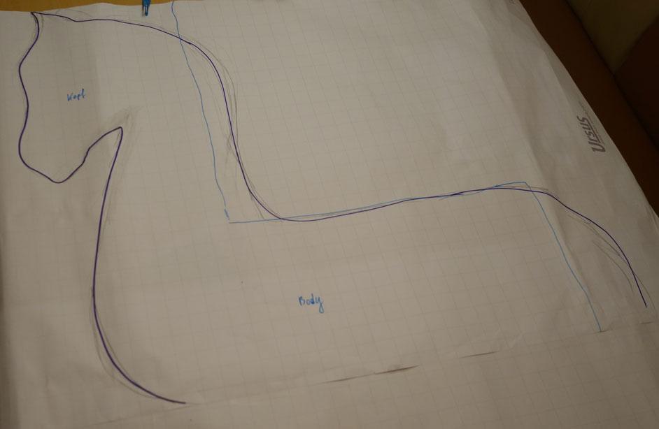 Erste Skizze von meiner Frau angebracht