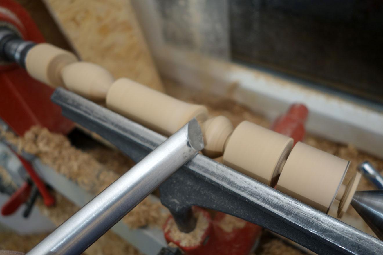 Runde Formen mit dem Flachmeißel drechseln