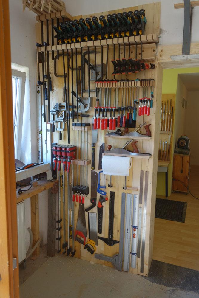 Der Zwingenbereich in der Werkstatt musste auch neu gestaltet werden