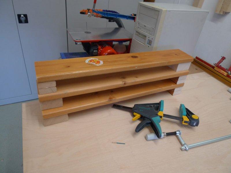 Schmale Füße mit Holz aufdoppeln