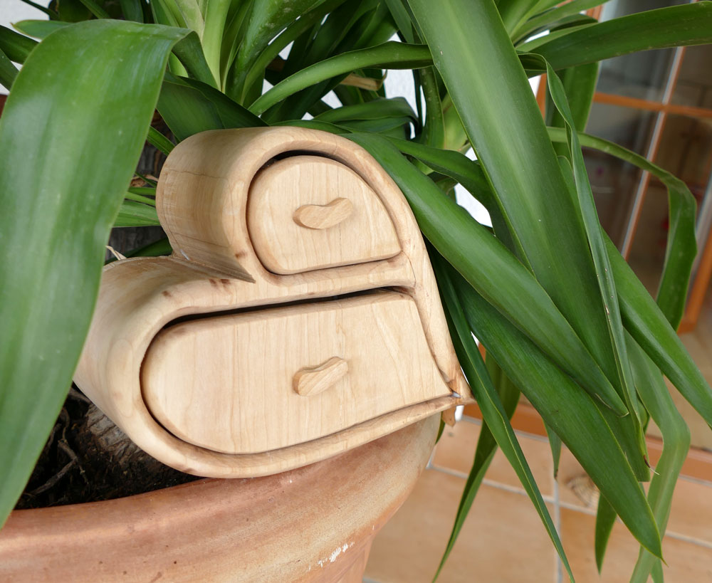 Bandsaw Box aus Birnenholz