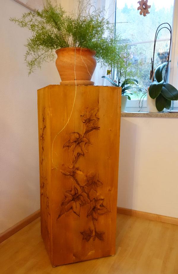 Fertige Holzsäule 2