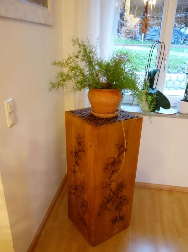 Fertige Holzsäule 3