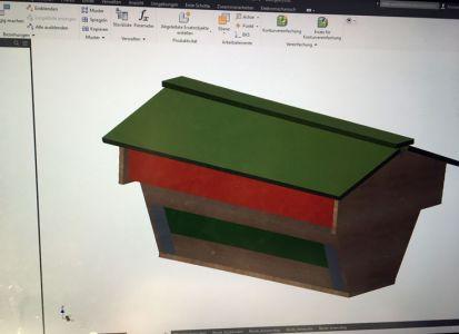 3D CAD Plan von der Oberträgerbeute