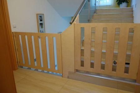 Treppengitter aus Birke-Multiplex