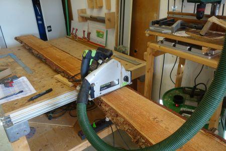 Gemäß Holzauszugsliste auf Länge schneiden