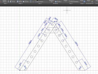 Mittels CAD das Kletterdreieck konstruiert