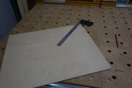 6mm Sperrholzplatte als Unterlage