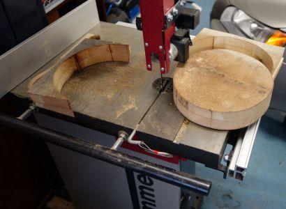 Kreis auf Bandsäge ausschneiden 2