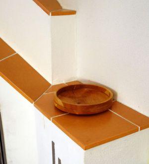 Fertig gedrechselter Teller aus Kirschholz
