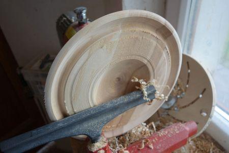 Rand drehen unf Schale für SChale innen aushöhlen