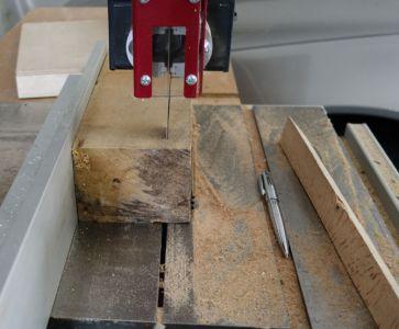 Nächster Versuch mit einem größeren Holzstück