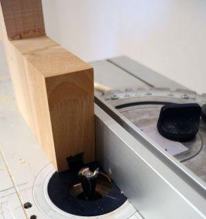 Schwalbenschwanz-Nut mittels Keilfräser gefräst