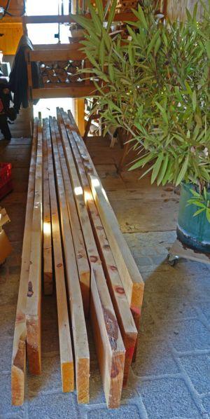 Holzzusammenstellung aus dem Lager