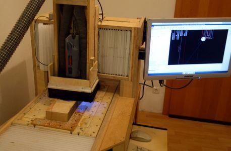 Start der notwendigen Ausnehmung an der Solidis (CNC-Fräse)