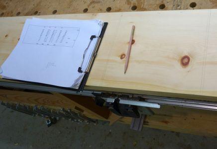 Die mittels CAD ermittelten Längen auftragen