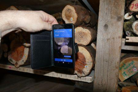 Abscannen eines QR-Taggs mittels Handy