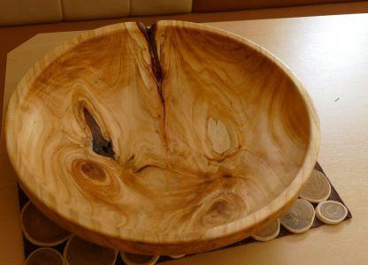 Große Obstschüssel (45cm im Durchmesser) aus Wildkirsche