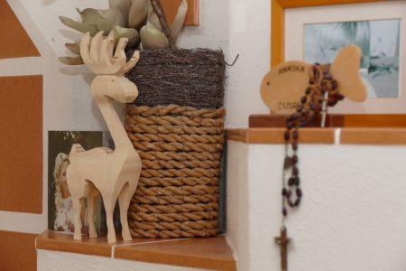 Reindeer bzw. auf Deutsch ein Rentier aus Birkenholz
