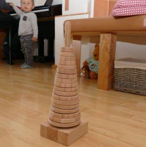 Fertige Stapelturm bzw. Stapelpyramide