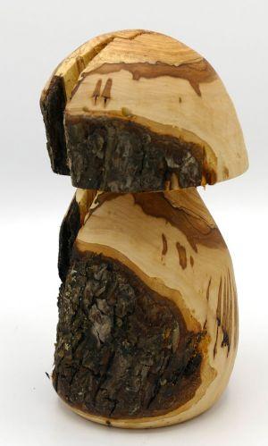 Schwammerl mit Naturrinde aus gestocktem  Apfelholz