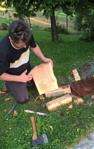 Rohling vom Holzstaub reinigen
