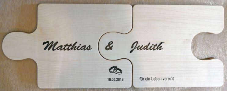 Hochzeitsgeschenk (Ahorn-Schneidbrett)